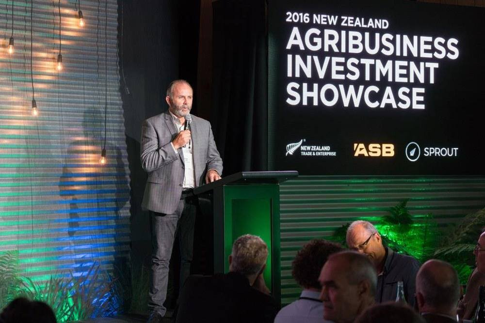 Simon Brown speaking at the Agribusiness Investment Showcase in March.