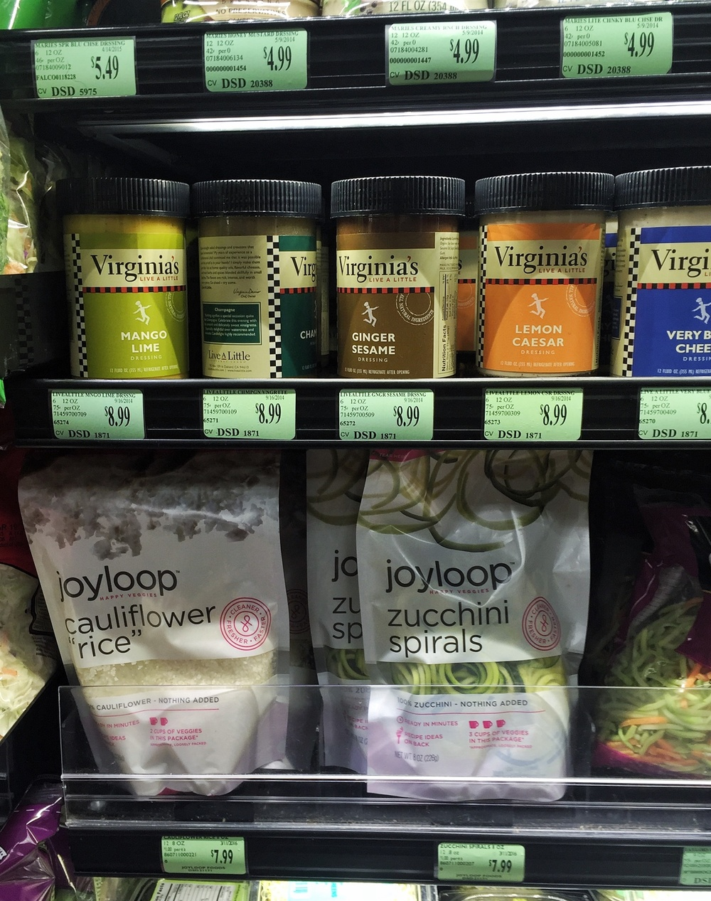 Find joyloop below Virginia's dressing at the Shattuck Andronico's.
