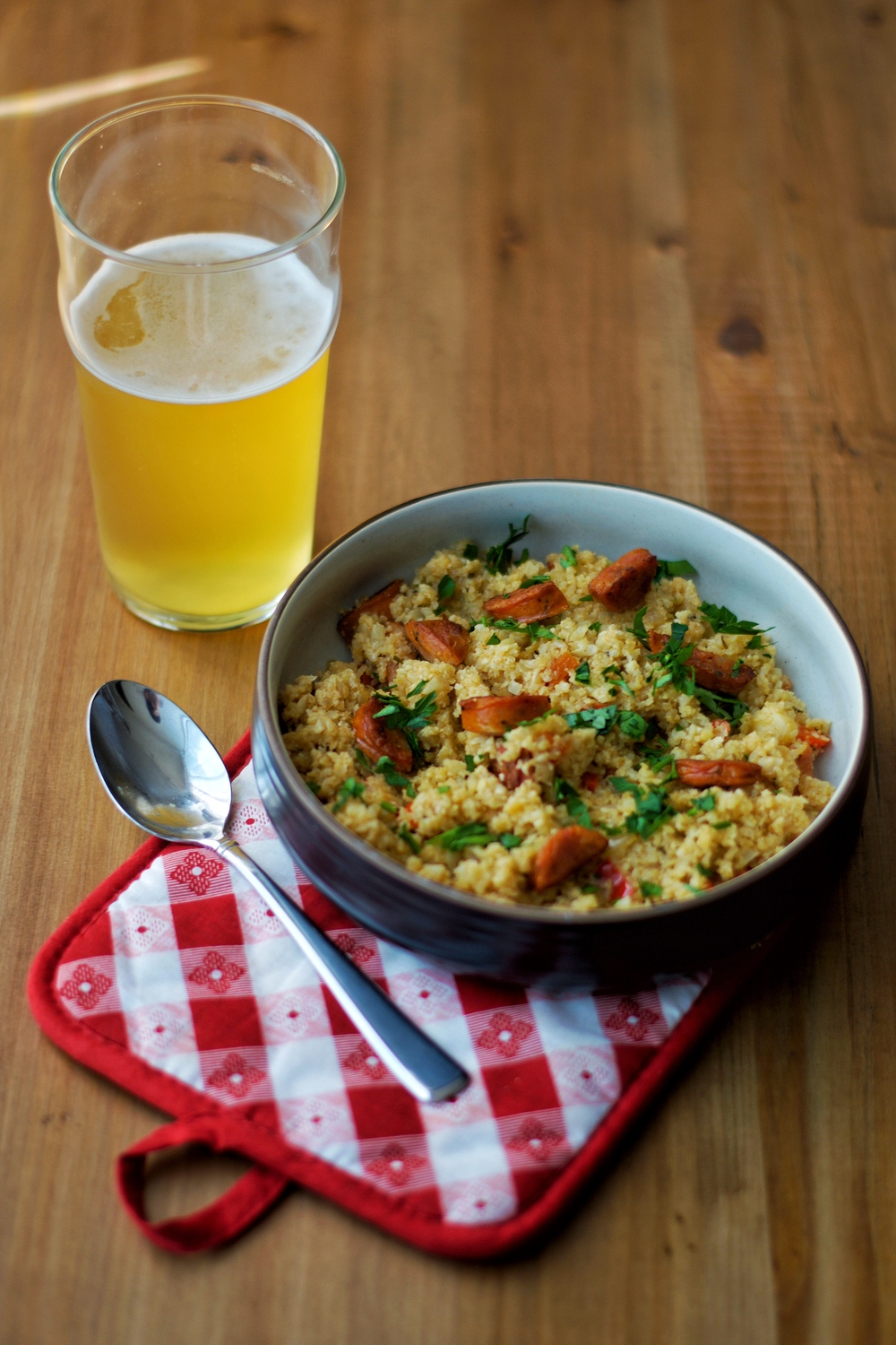 Cauliflower dirty rice: a taste of Louisiana, but less carbs!