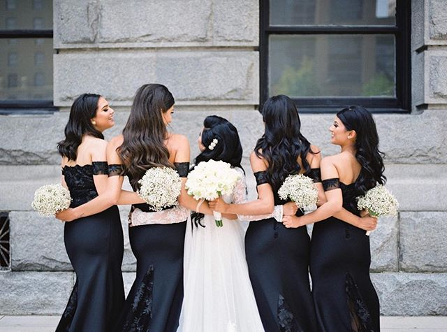 How gorgeous are these bridesmaids dresses? Black, bold and beautiful! Another favourite from Yalda & Solaiman's wedding.  #vancouverweddingphotographer #yvrweddingphotographer #fineartfilmphotographer #fineartfilmphotography #destinationweddingphotography #weddingideas #weddingphotographer #film #capturingunforgettablemoments #instadaily #ishootfujifilm #makeportraits #weddingsonfilm #fuji400h #filmphotography #filmweddingphotographer  #filmwedding #wedding #bridalinspiration #vancity #ido #instalove #photobugcommunity #realweddings #summerwedding