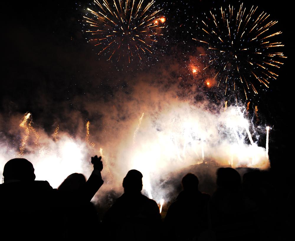 Midnight Firework Silhouette