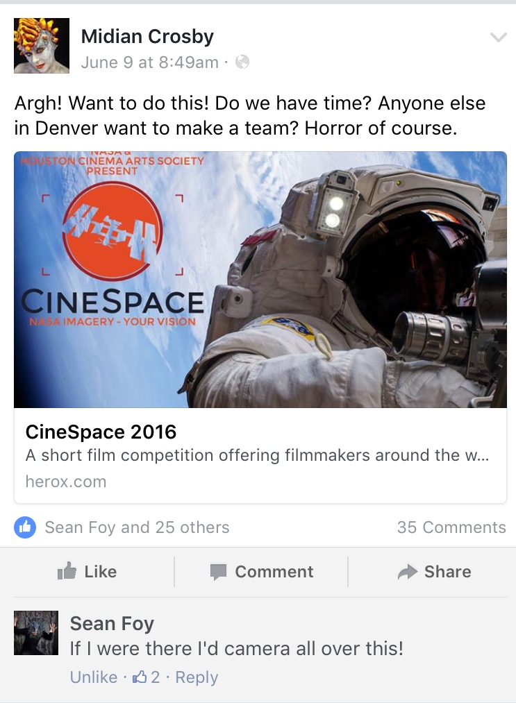 Midian Cinespace FB post
