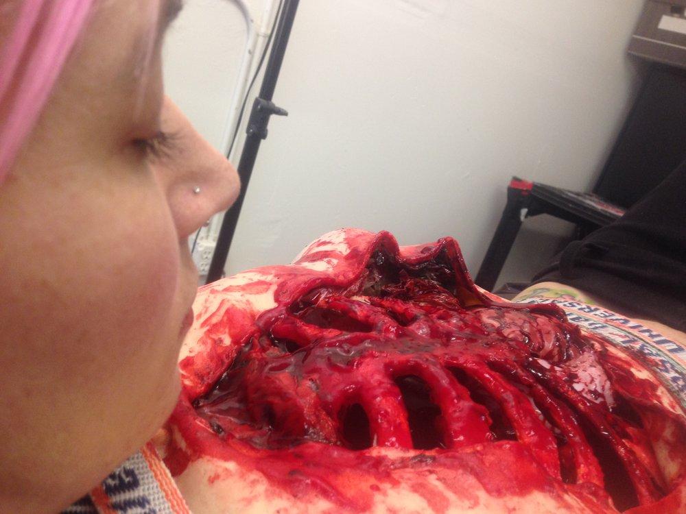 Monster Makeup FX Special FX Female Vivisection Rib Test.JPG