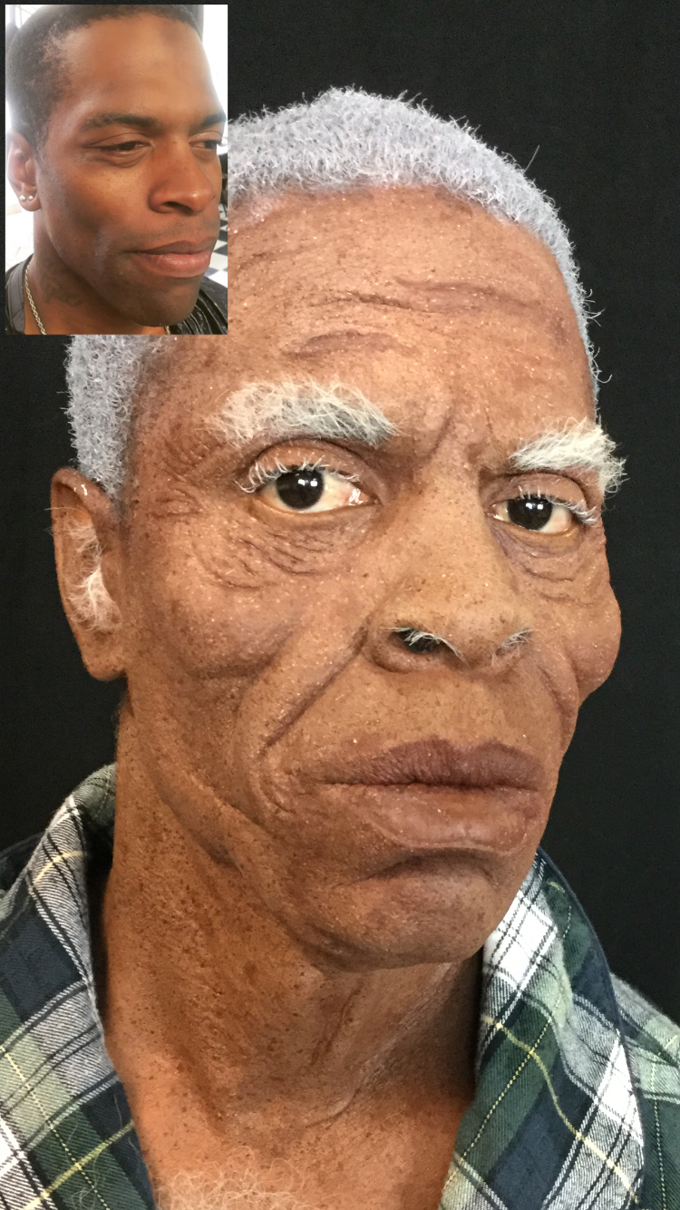 Monster Makeup FX African American Old Age Makeup Special Effects Prosthetics Transformation.jpg