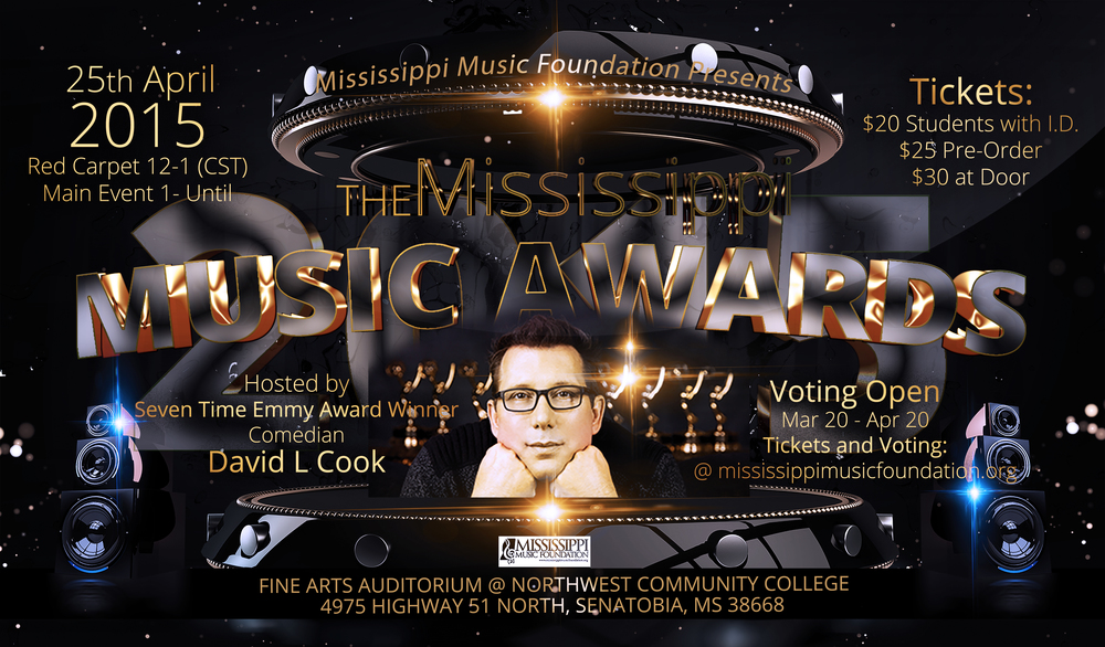 2015 Mississippi Music Award Flyer