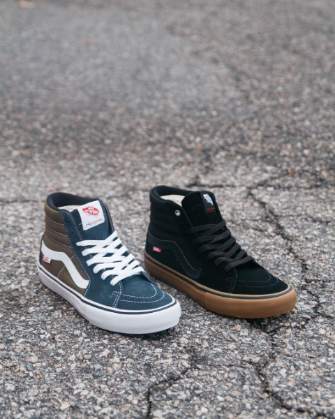 fca1f6b6d36016 Vans Sk8-Hi Pro in Ebony Olive and Black Black Gum Now Available — Skate  Supply