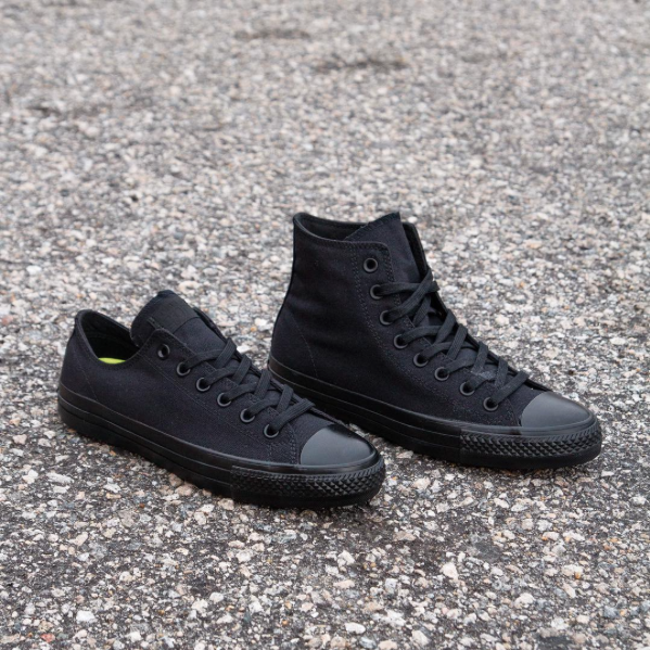 60dca630cfe0cc Converse CTAS Pro Low Hi in Black Black Now Available — Skate Supply