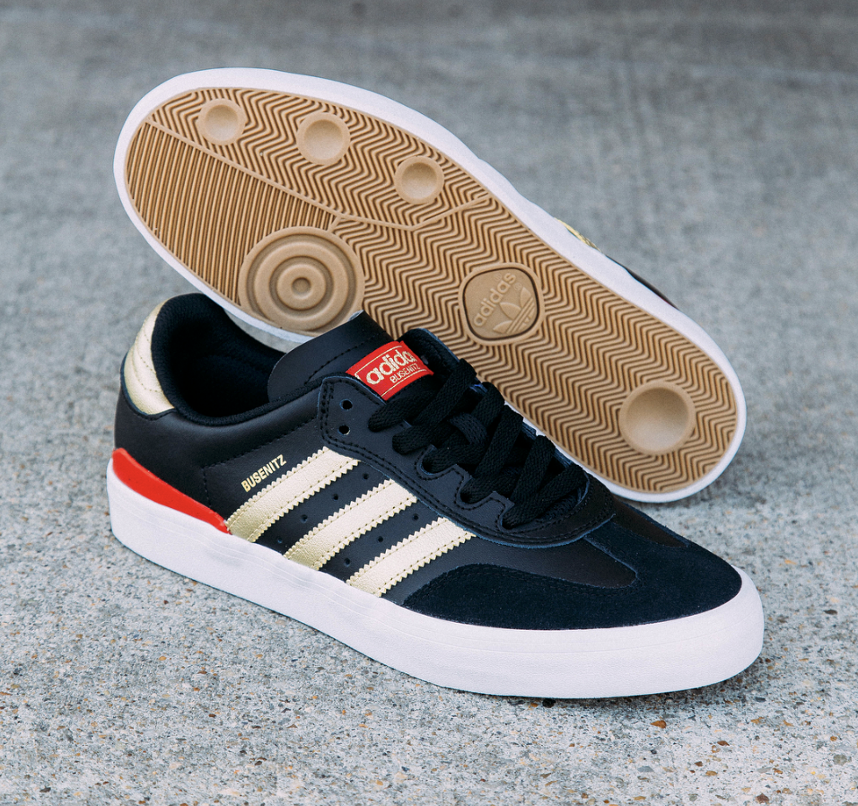 free shipping 0a989 c3fab Adidas Busenitz Vulc RX in BlackGoldScarlet Now Available — Skate Supply
