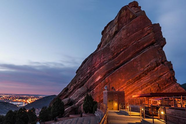 Red Rocks Park & Amphitheater at sunrise 🌅