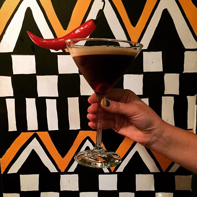 This week's Cocktail of the Week: the Espresso Martinez! Made with tequila, coffee liqueur, chilli infused sugar syrup and fresh espresso guaranteed to get your Saturday night started!! #eathouse #eathousediner #cocktailoftheweek #espressomartini #chillitequila #saturdaynightdinner #saturdaynightdrinks #instadrink