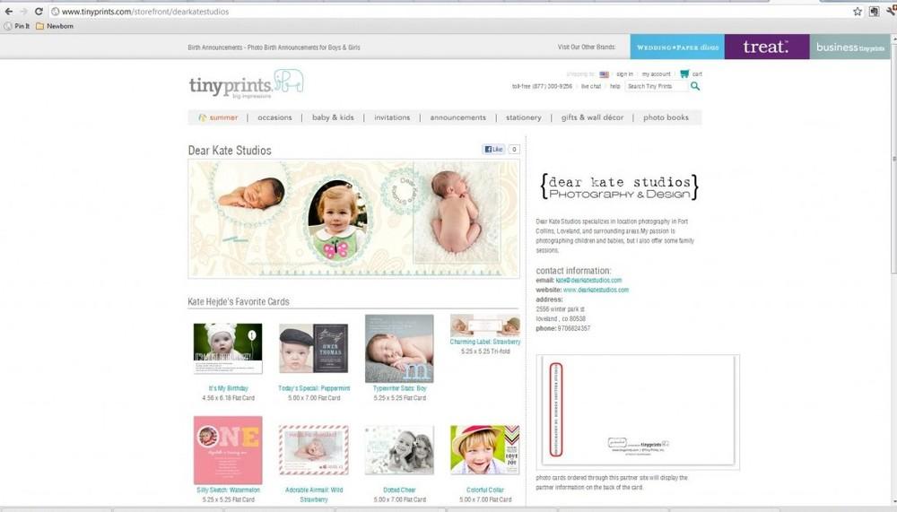 Northern Colorado Child and Newborn Photographer Stationary