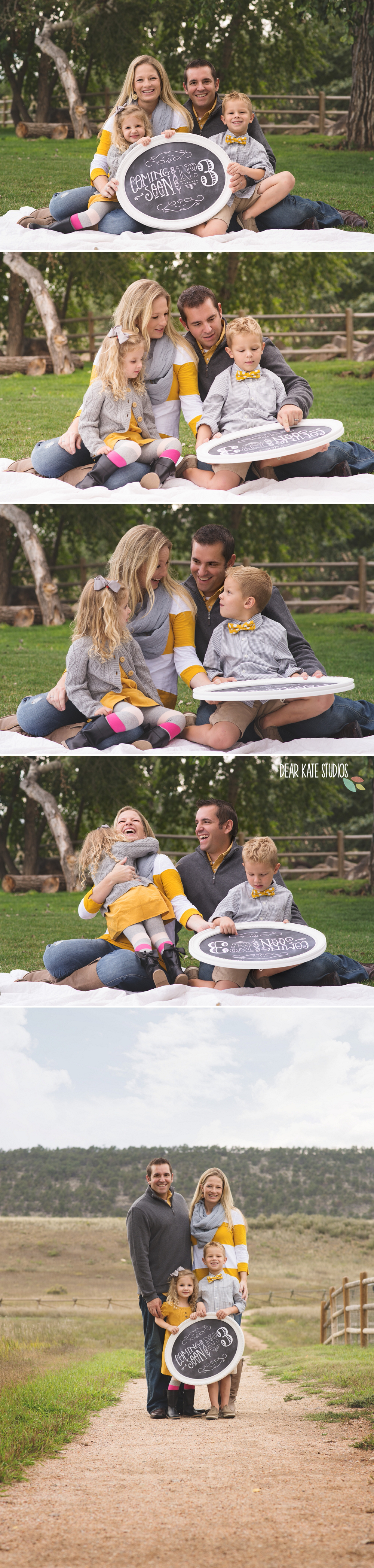 Family Photographer Fort collins baby announcement