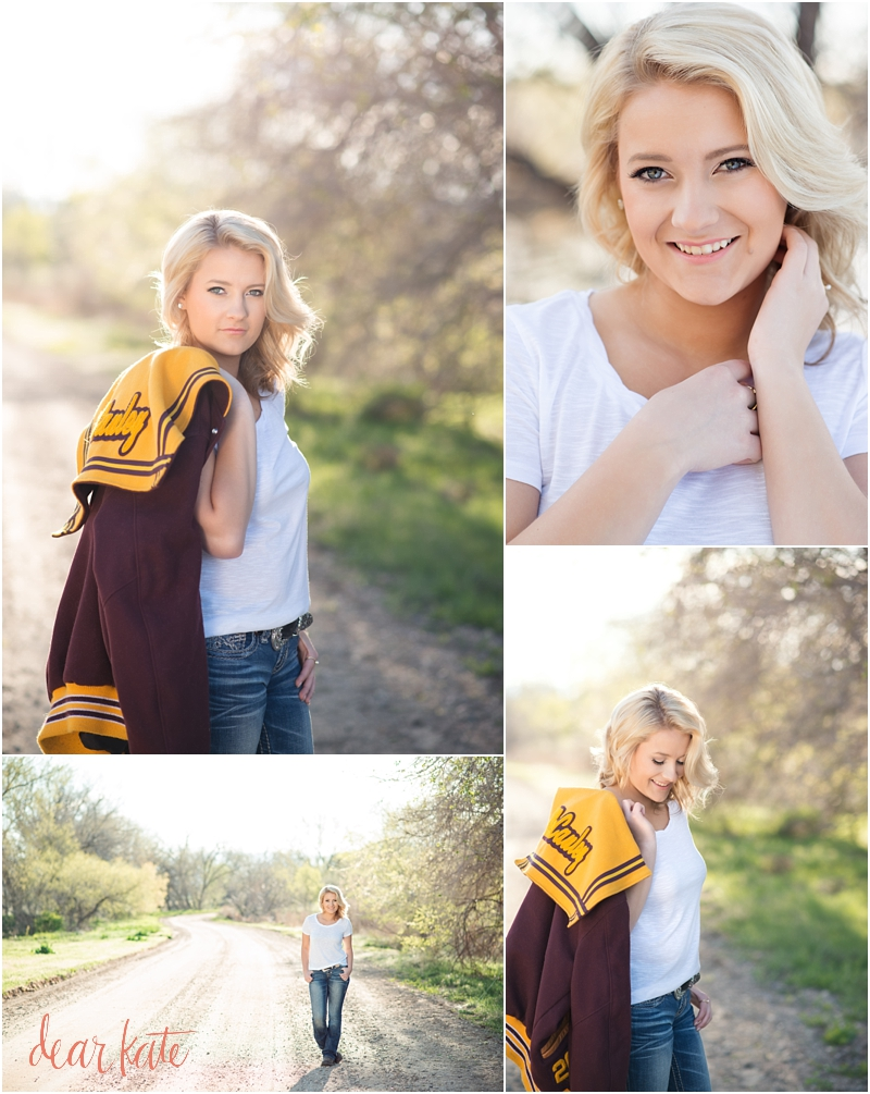 windsor senior pictures with letter jacket outdoors