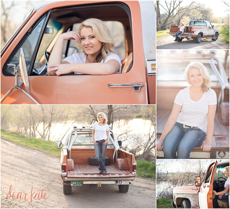senior pictures with pickup truck windsor senior photographer