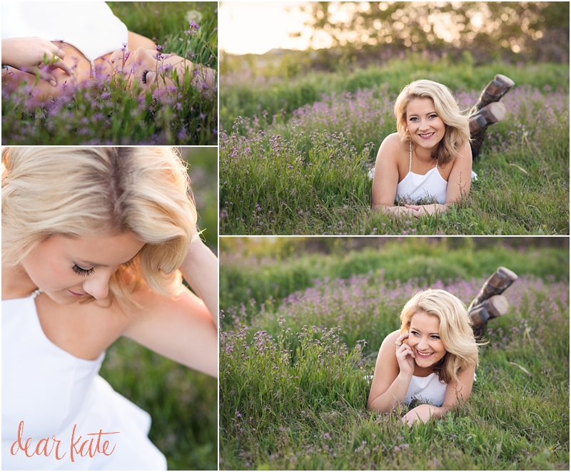 Windsor CO senior pictures purple wildflowers