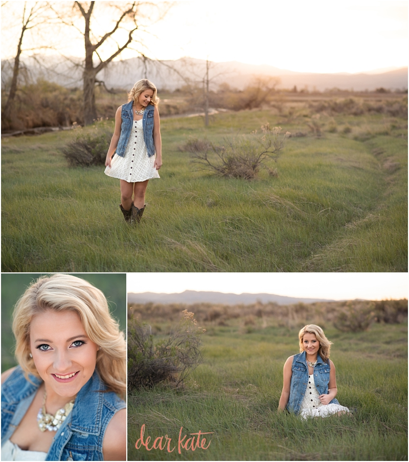 Windsor Senior pictures sunset mountain view outdoors natural