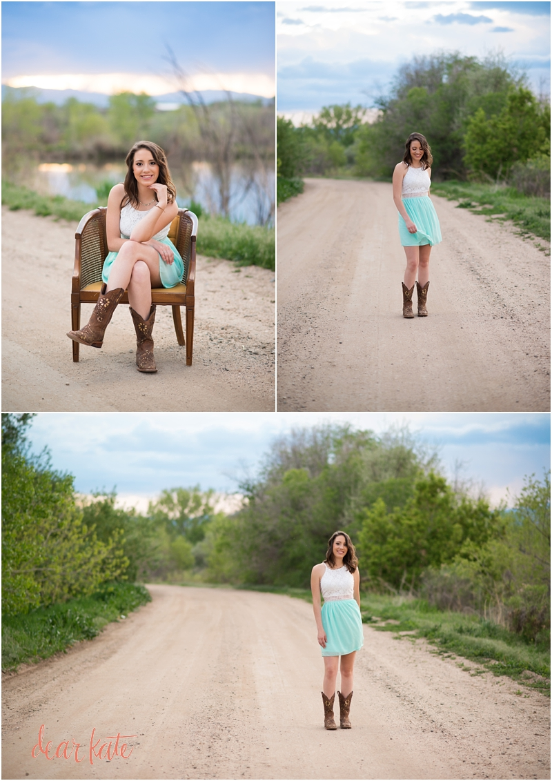 Fort Collins Senior pictures country natural cowboy boots