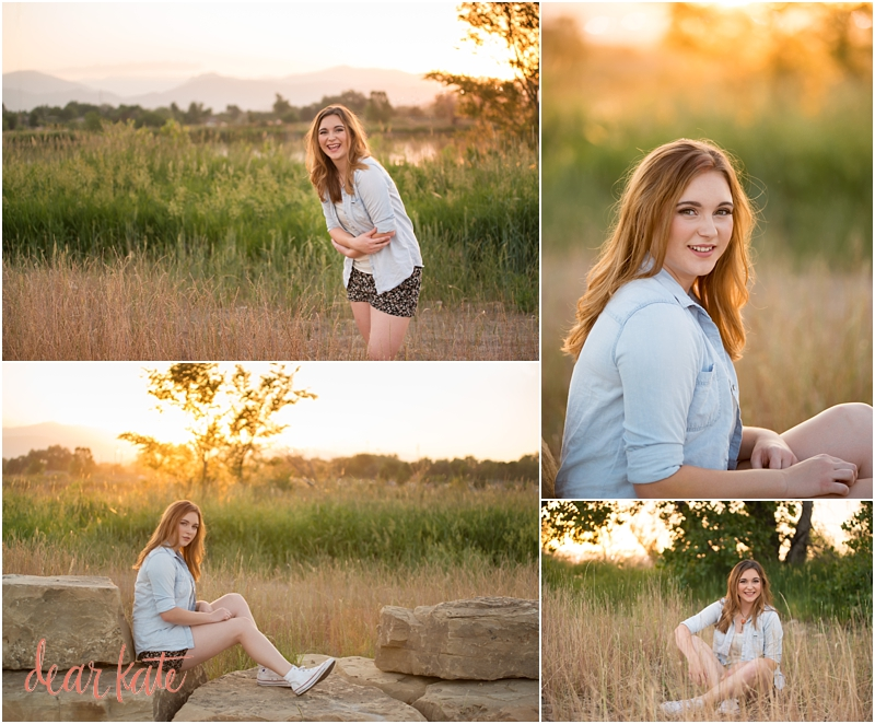 Sunset Senior pictures vanilla sky loveland mountains