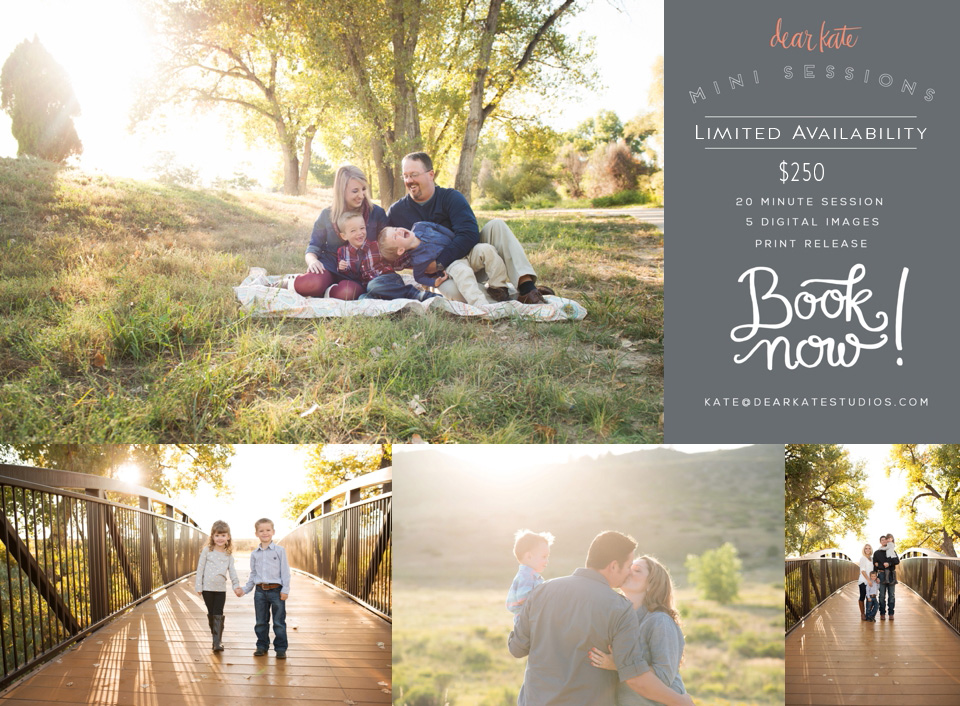 Fall family mini sessions loveland, co fort collins