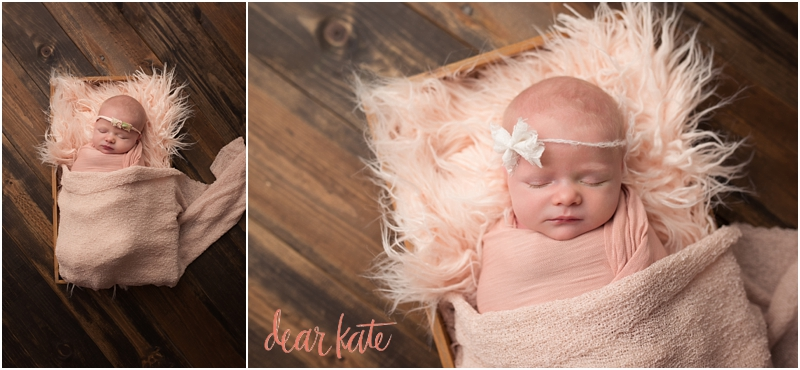 Newborn baby pictures loveland co infant in pink fur