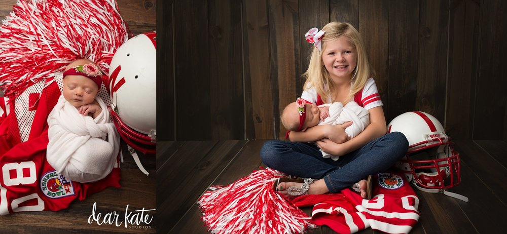 Cornhuskers football newborn pictures loveland co