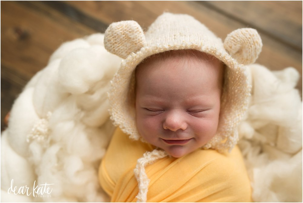 Smiling newborn baby bear top newborn pictures of 2016 ft collins.jpg