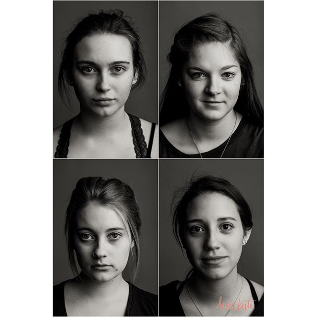Authentic beauty. Love the way these studio images turned out. Aren't these girls stunning? #nomakeup