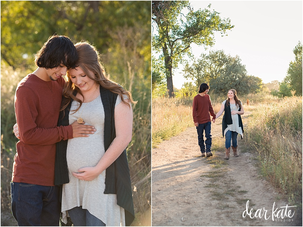 Fort Collins Maternity pictures with Jeep first time parents