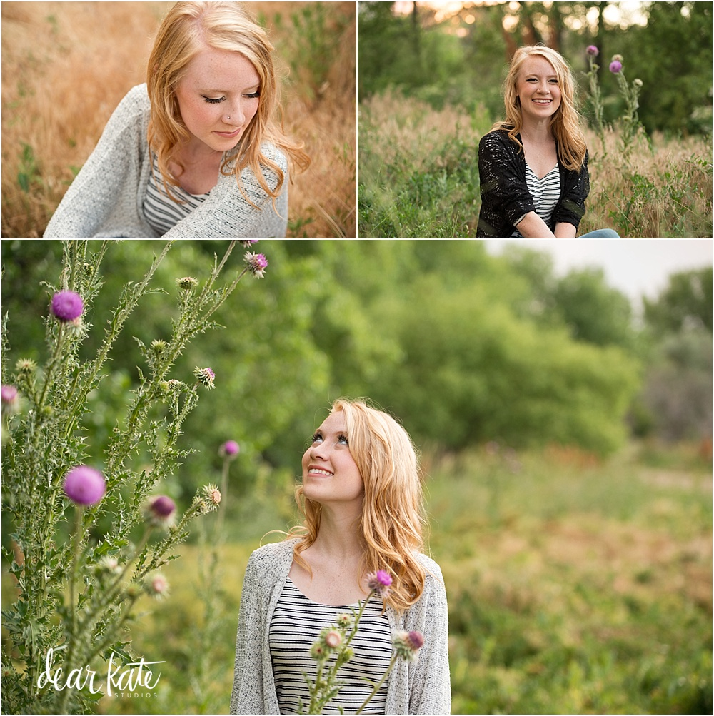 Loveland natural senior pictures wildflowers