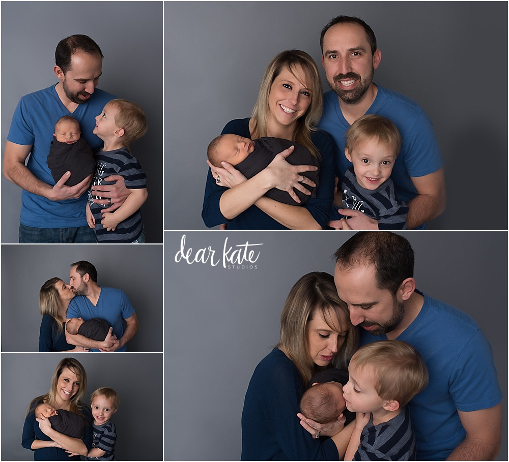 Loveland infant pictures with family and older sibling