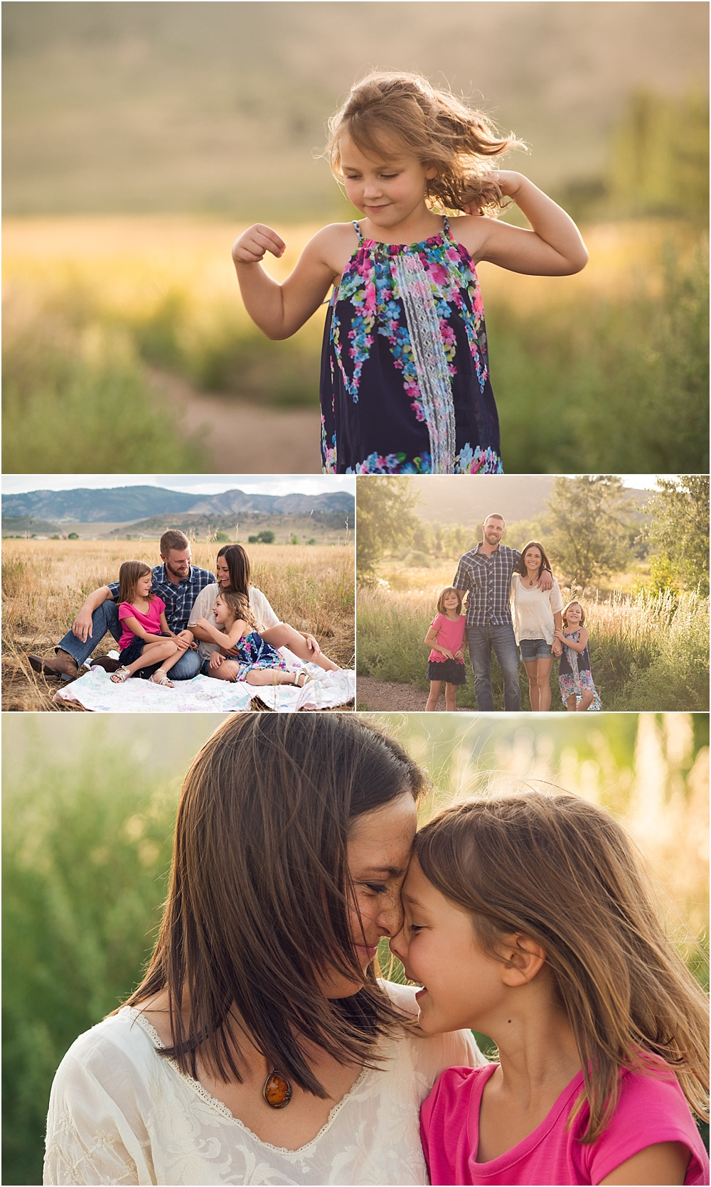 Loveland summer mini session fort collins family photographer