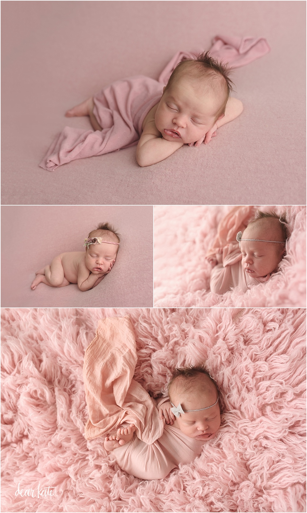 baby girl in pink newborn portraits northern colorado