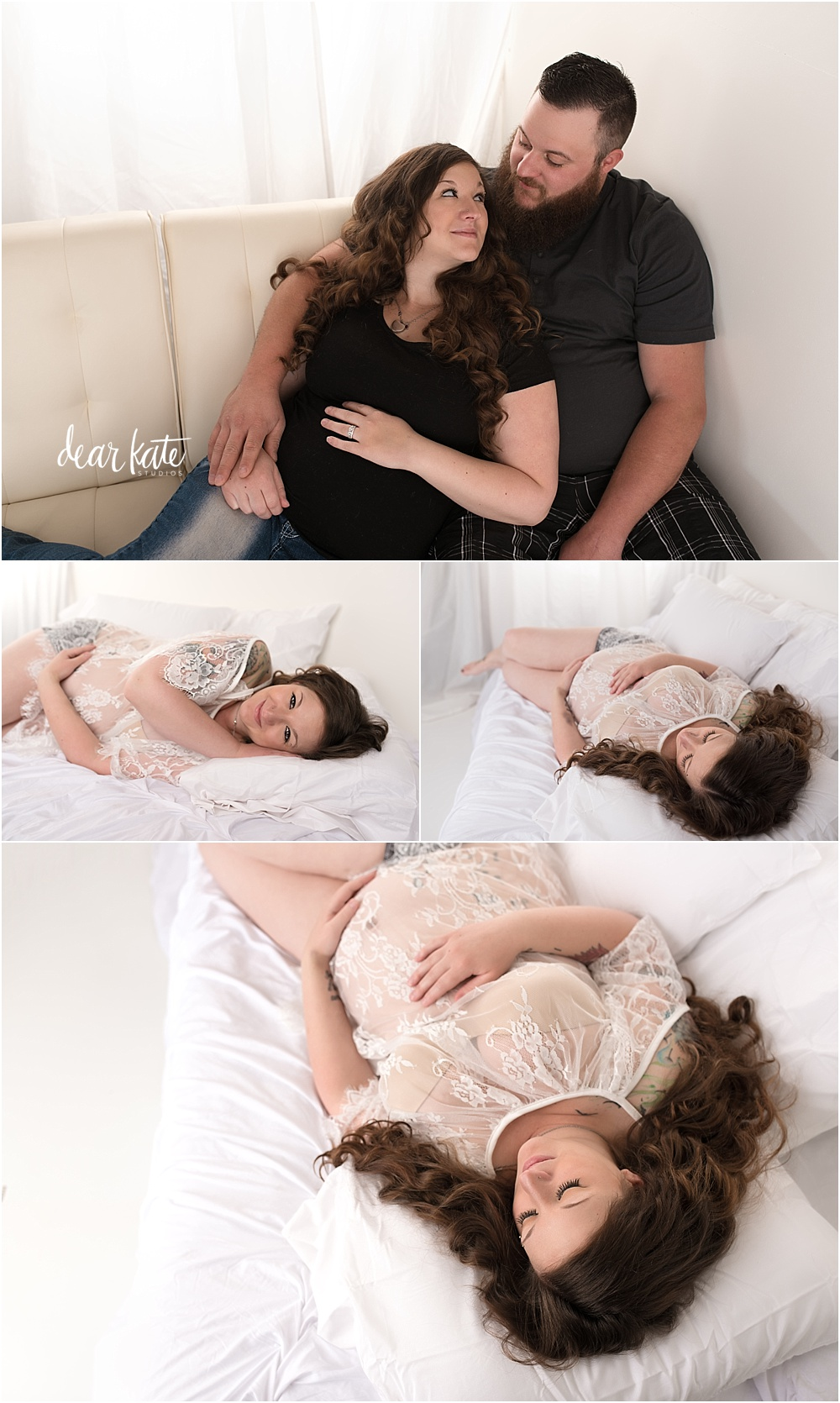 studio pregnancy pictures indoors for winter weather months loveland colorado