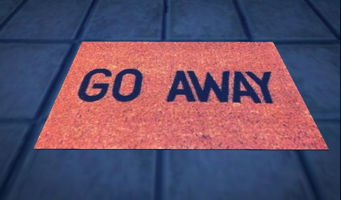 """A """"Go Away"""" doormat would be less subtle than the attitudes of many church goers."""