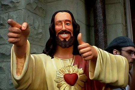 Is buddy Jesus the 21st Century symbol of the Messiah?