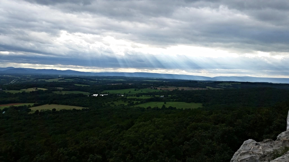 A view from the overlook at  bull run mountains conservancy, VA