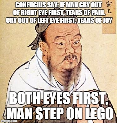 Confucius, though wise, does not rise to the level of Curse Word.