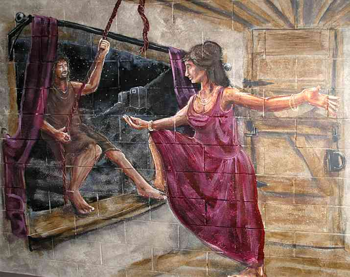 Rahab was a Prostitute in the city of Jericho. She is also found in the family bloodline of Jesus