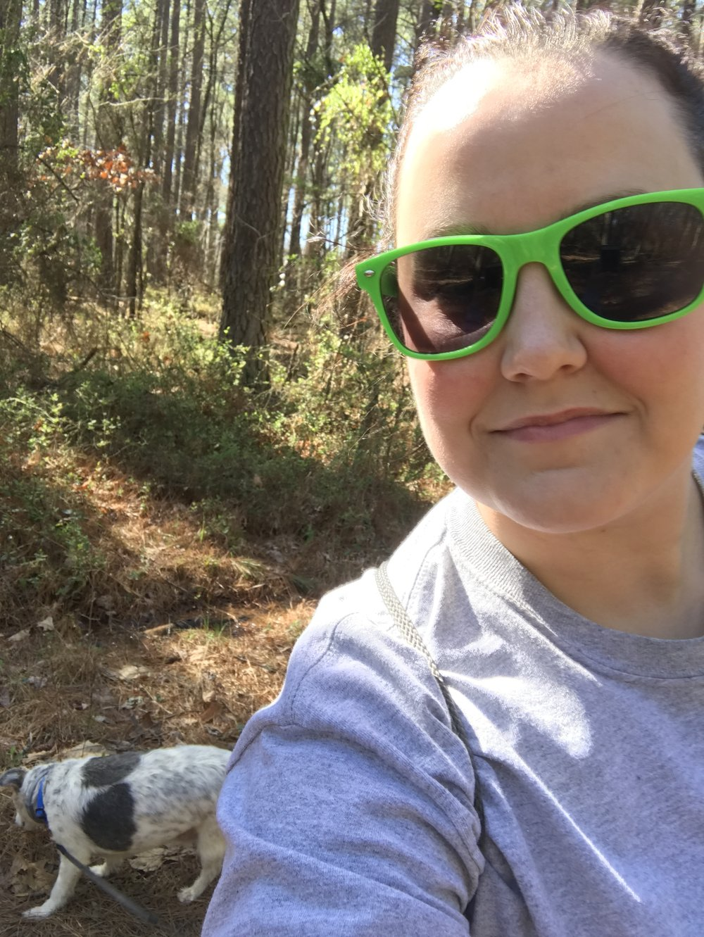 Jack and I enjoying the great outdoors