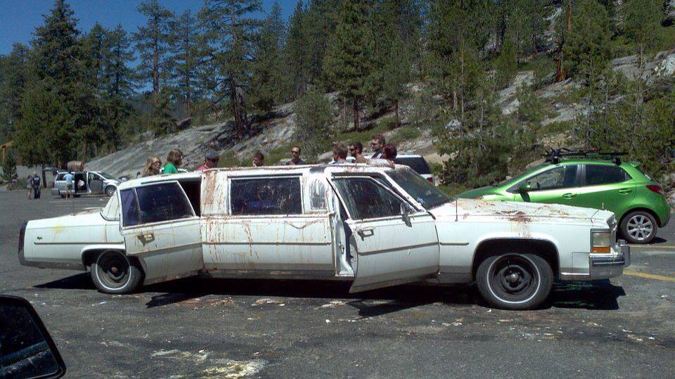 The limo. The glorious, beshitted limo.