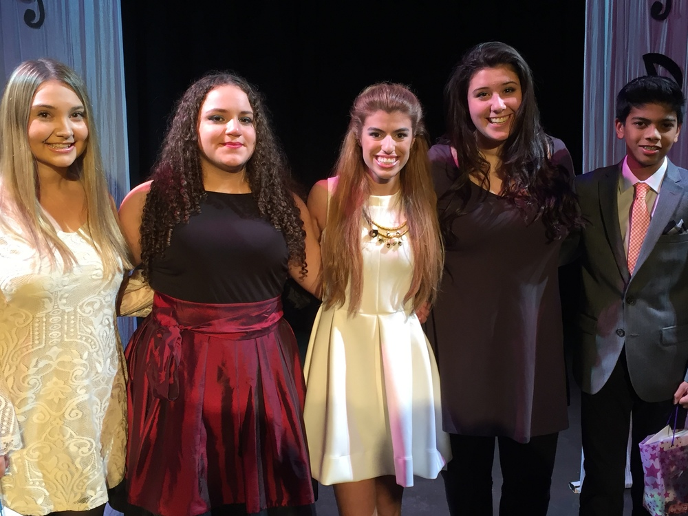 TOP 5 FINALISTS:  (L to R) Noelle Carlson, Amara Barlow-Valerio, Despina Drougas  Brianna Marangielle (winner) and Kerr Rudge.