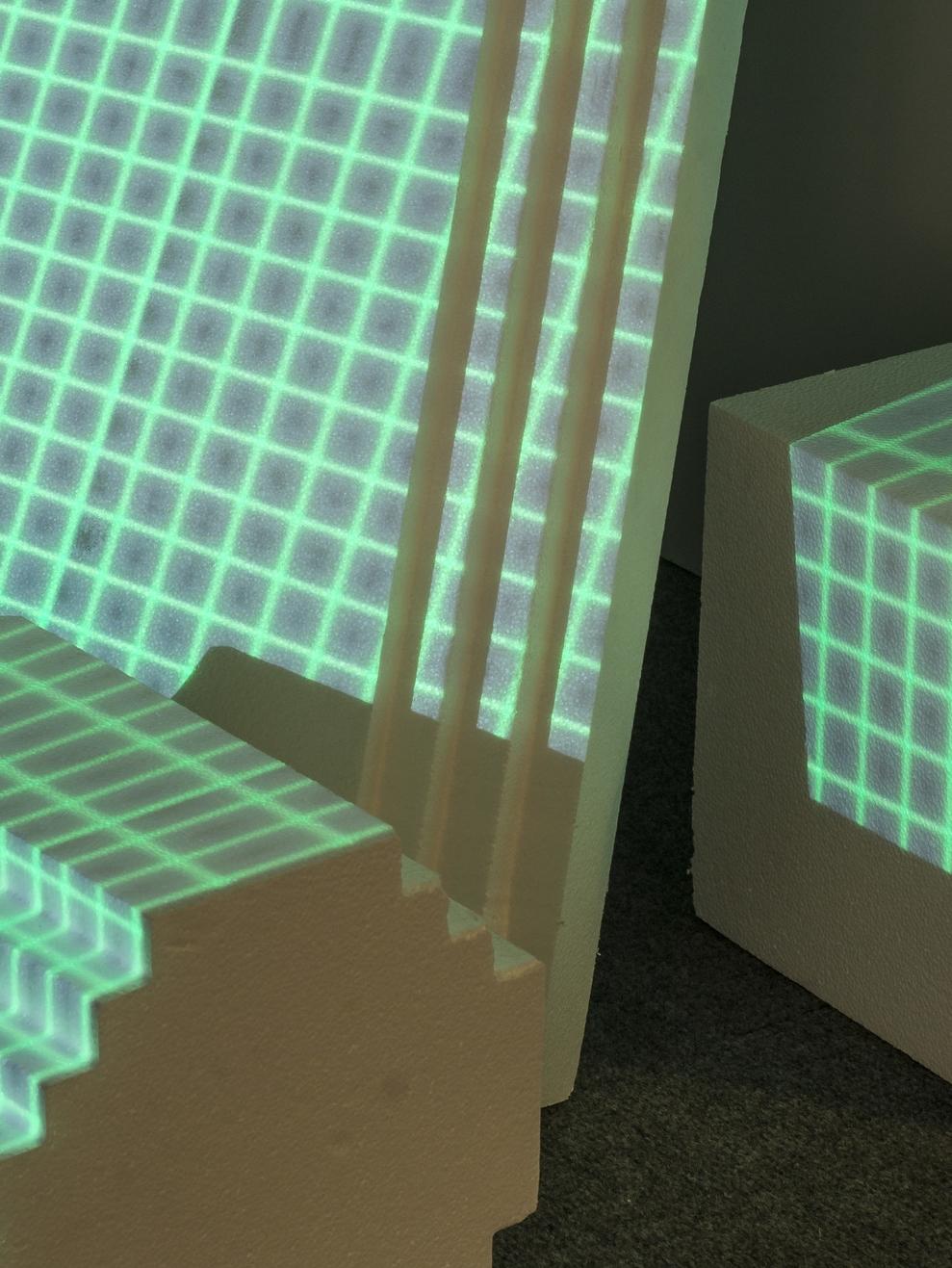 Rafael Foster  The Grid , 2015 Projection, foam