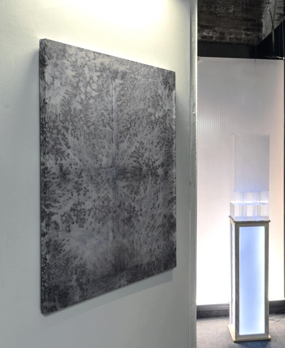 """Zack Marshall  Untitled , 2015 Acrylic, polyester, aluminum 30"""" x 40"""""""