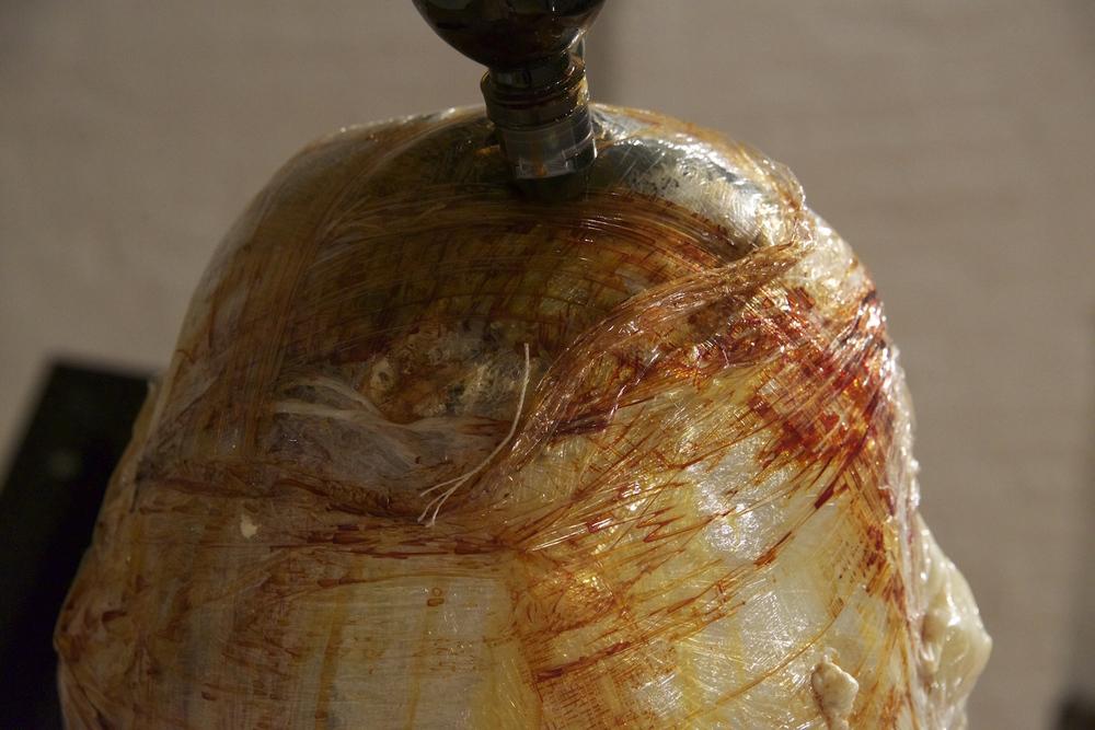 Paul Gondry  Dragon Egg, 2016 Polyol resin, cellophane, iodine. 10 x 20 x 15 inches