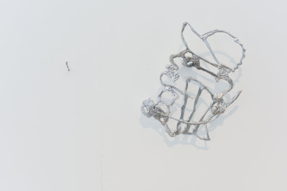 Bent screw,Irina Jasnowski Pascual cast aluminum