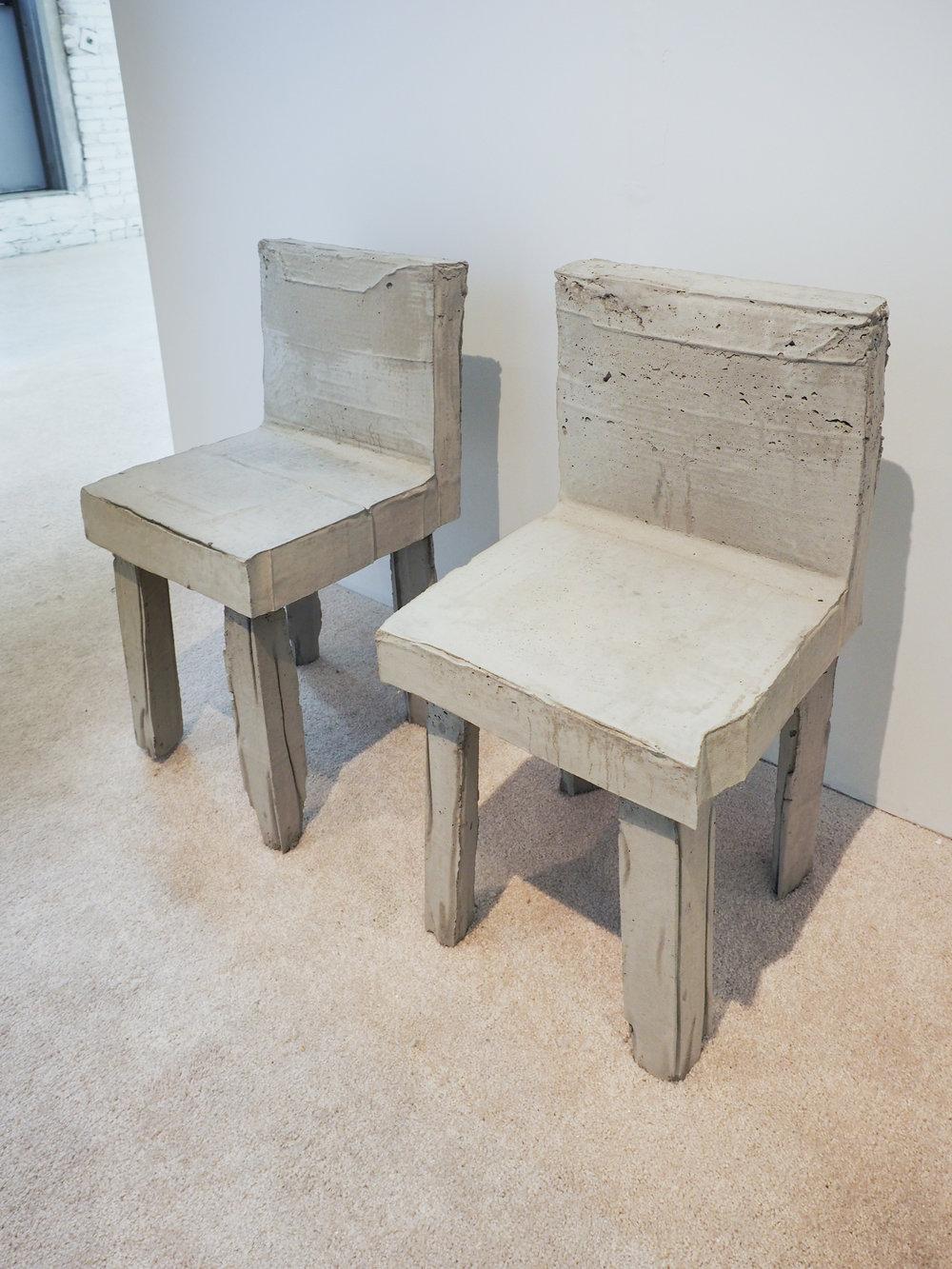 Concrete Chair (1,2)Agata Ingarden concrete, metal reinforcement