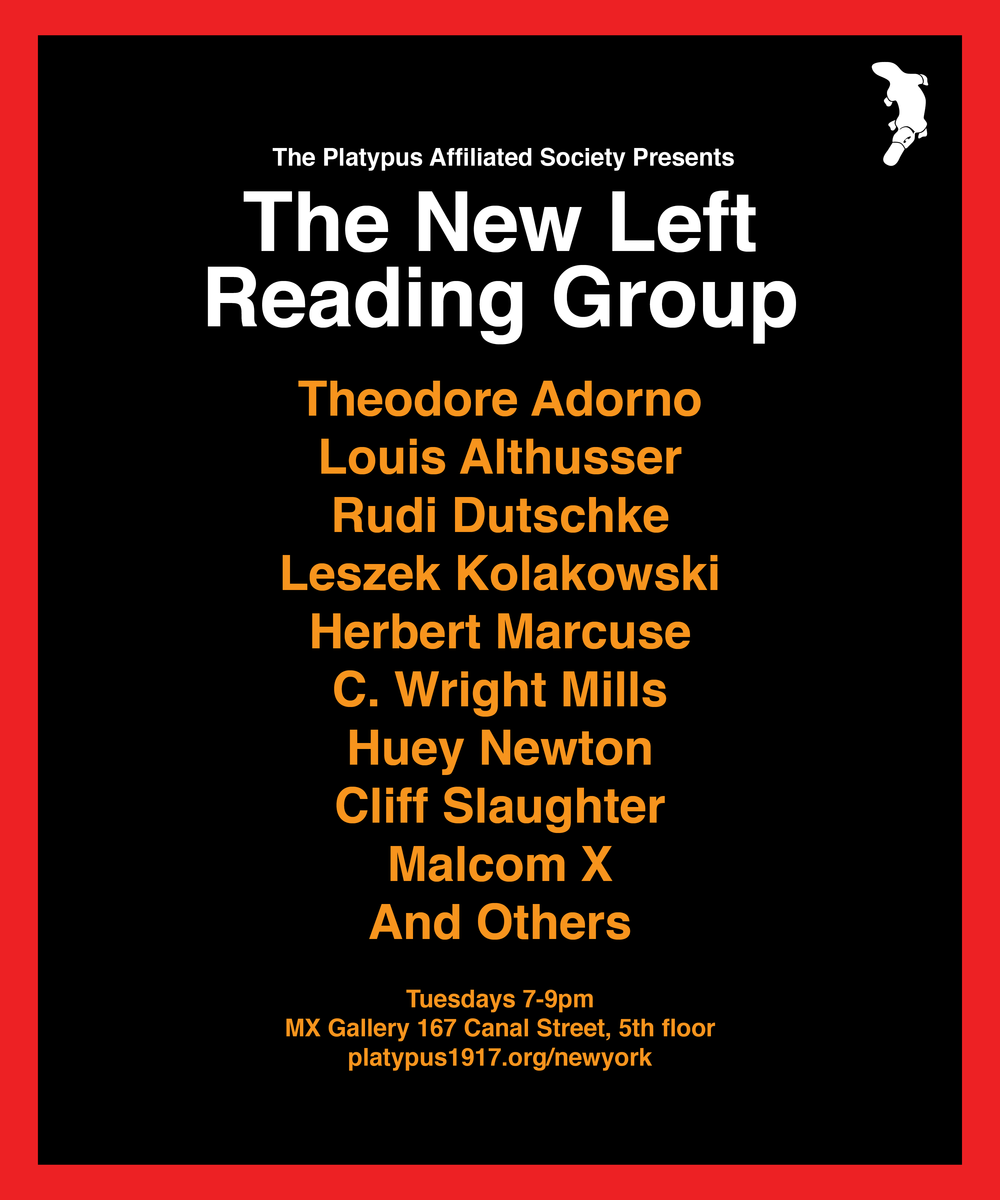New York Summer 2018: 50 years of 1968: readings from the New Left