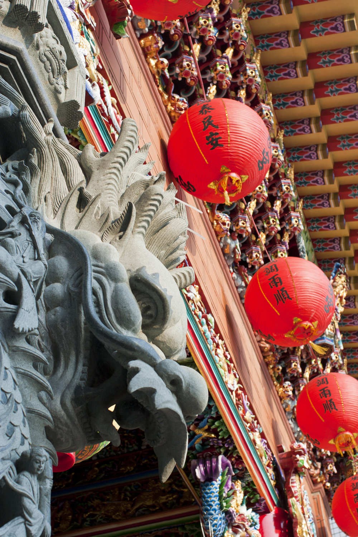 Temple detail, Taiwan