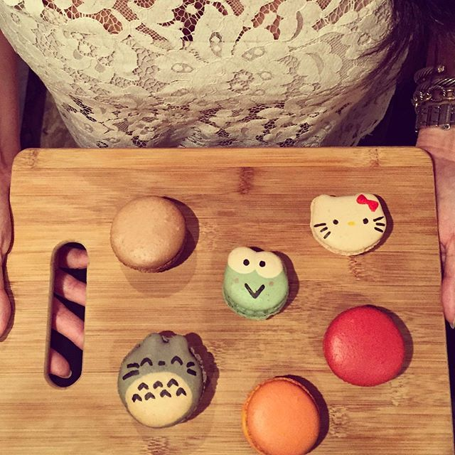 Sundays call for Hello Kitty and Cheetos flavored macarons  #nyceats #yum