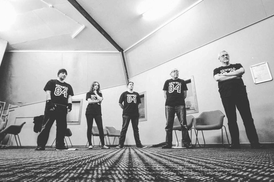 "The cast of George Orwell's ""1984"" in rehearsal - Palmerston North, New Zealand - 2017."